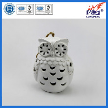 Ceramic Owl Lantern Candle Holder for Home Decoration