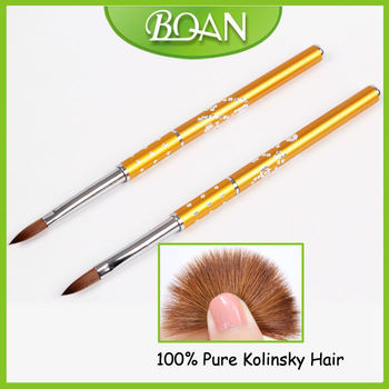 Hot Sale Metal Handle Kolinsky Flat Acrylic Nail Brush