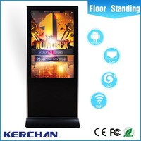 65 inch Iphone Style Floor Stand touch screen self-service terminal kiosk with CE/ROHS/FCC