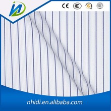 China factory pc 65/35 twill navy blue and white stripe fabric