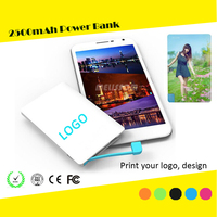 Ultra slim 6.6mm 2600mah Credit card power bank 2600mah factory wholesale