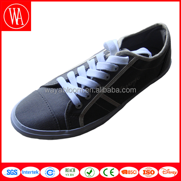 Vulcanized casual rubber sole canvas shoes in high quality