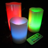White color lamp body and wax material color glowing candle
