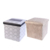 2018 printing pvc cube ottoman with storage