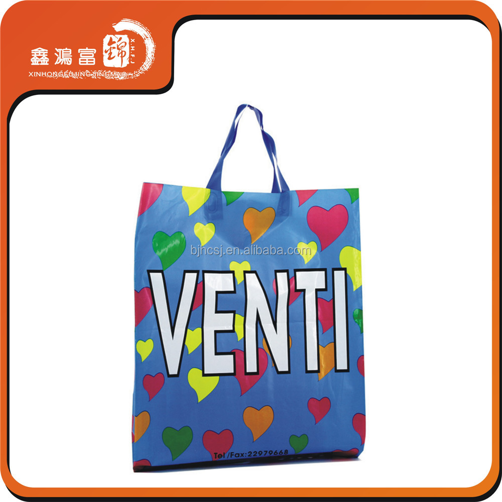 custom carry plastic hand bags shopping