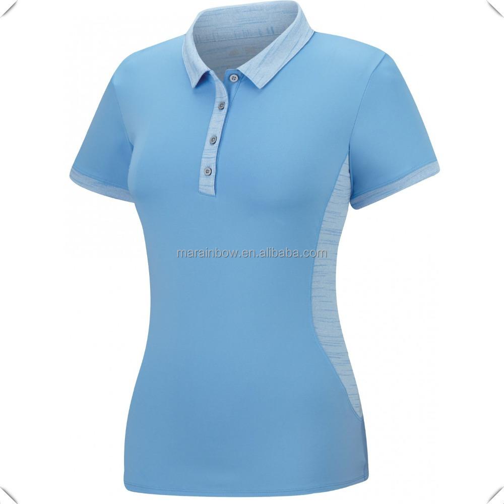 Design t shirt collar - High Quality New Design Dress Collar Dry Fit Women Sport Polo T Shirt Custom Wholesale