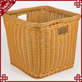 New design high quality plastic rattan storage basket for fruit durable handmade home storage organizer
