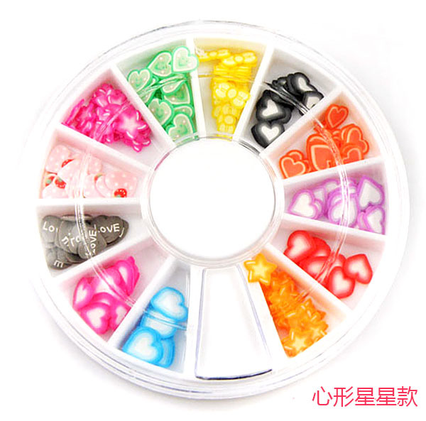 120-180 pcs Wholesale fruit leaf flower animal shape nail clay christmas nail art decoration