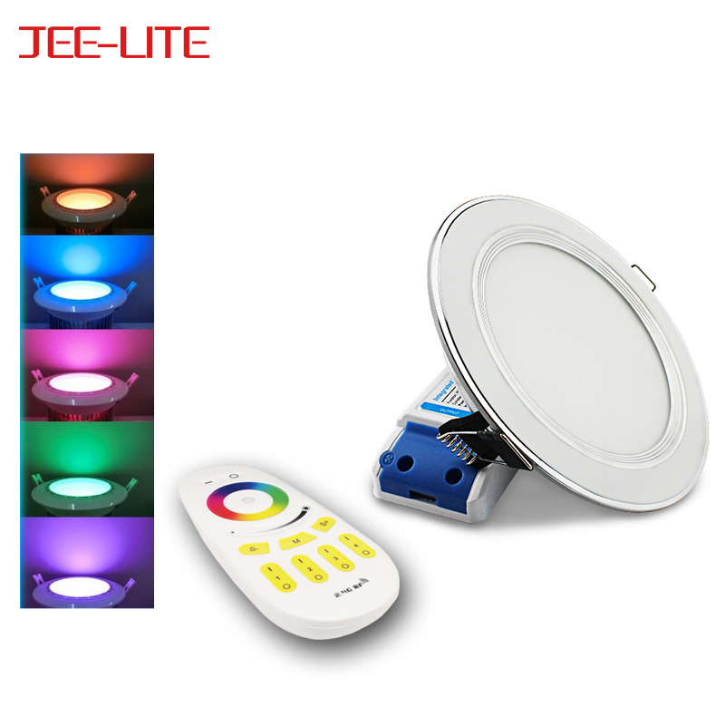 AC 110V 220V 2.4G RF Wireless Remote Control 12W RGB RGBW Led Downlight Also WiFi Mobile phone Control Dimmable