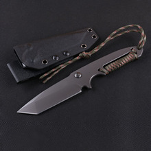 High quality D2 steel fixed blade knife military army knifes with tanto blade