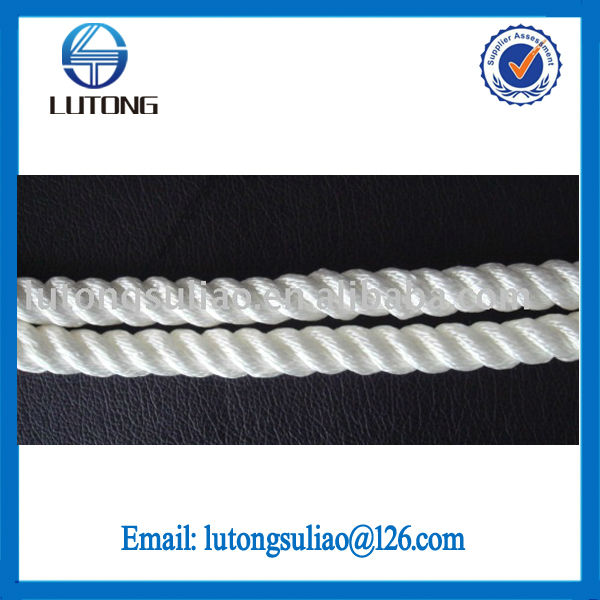 high tenacity 16mm white polyester rope