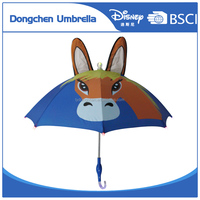 Safe patent sound&light cartoon children umbrella/kids umbrella (LED umbrella) with Disney FAMA