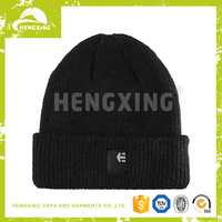 New arrival teenagers custom made mens plain knitted beanie