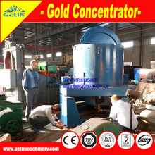Placer gold panning equipment for small scale gold mine