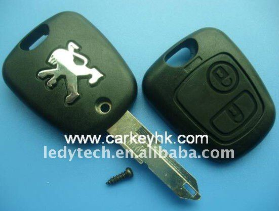 Peugeot 206 key cover 2 button
