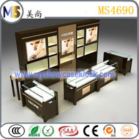 fashion display fixtures display showcase cabinet for jewelry set