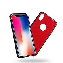 Mobile Back Plastic Silicone Tempered Glass Cover Phone Case For Iphone X 8 7 6 5 Style!! 4 4g 4s Plus