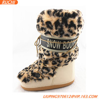 2015 Fashion fake fur winter moon boots/ moon shoes
