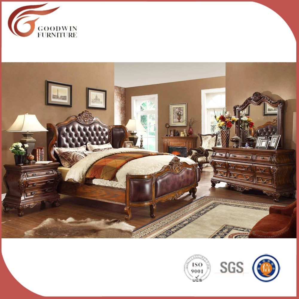 China manufacturer cheap wood furniture, hand carved bedroom furniture <strong>A08</strong>