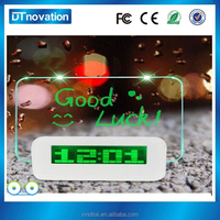 Colorful Light Digital LED Message Board alarm clock with usb