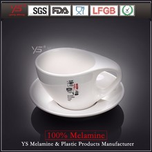 Top-level latest design 100% melamine tulip cup and saucer