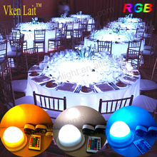 DHL Free Shipping Cordless Rechargeable LED Under Table Lamps For <strong>Wedding</strong>