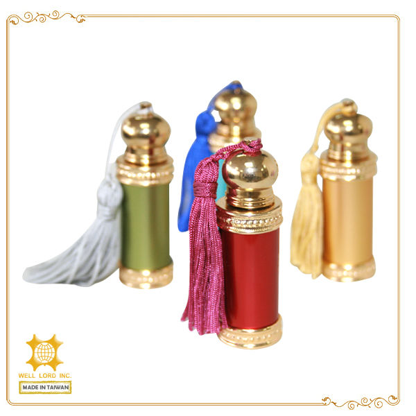 2015 hot sale in dubai favor 10ml glass vial metal stick argan oil bottle