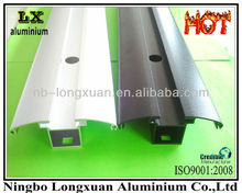 White anodized and black anodized aluminum extruding profiles
