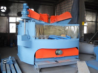 Rotary Table Sandblasting Machine, Turntable Rust Cleaning Sandblaster