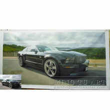 Handmade my favorite car photo to oil painting