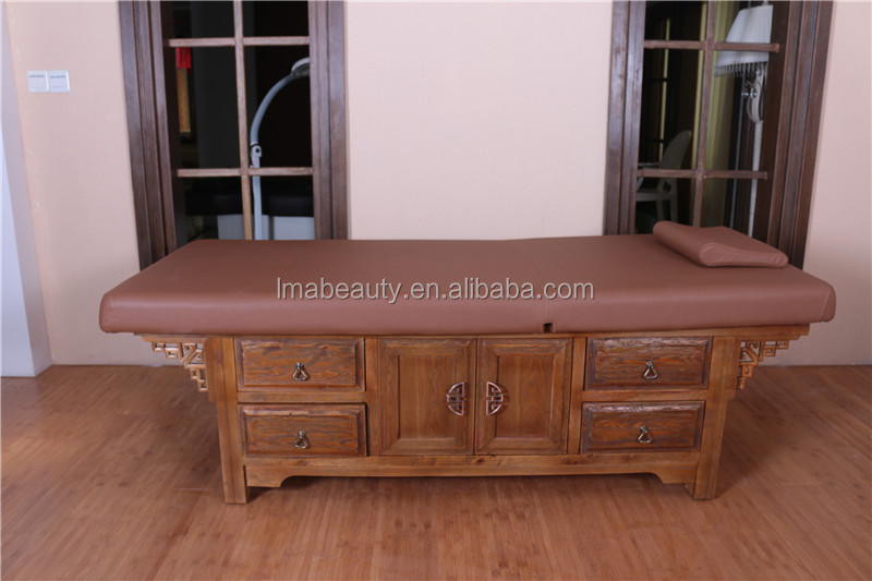 MD34 super beautiful china style wooden salon massage bed