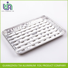 Wholesale healthy heat resistent BBQ Barbecue aluminum foil grill tray