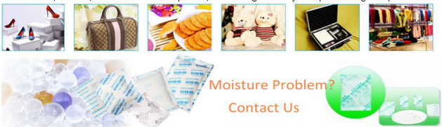 Moistureproof non-woven fabric packed silica gel desiccant