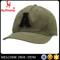 Custom army green promotional fitted brimless baseball cap