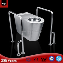 Stainless steel prefab bath and toilet