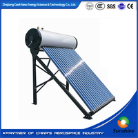 2016 Gedi Excellent Three Target Vacuum Tube Fashionable Clean Energy Non Pressure Solar Water Heater System