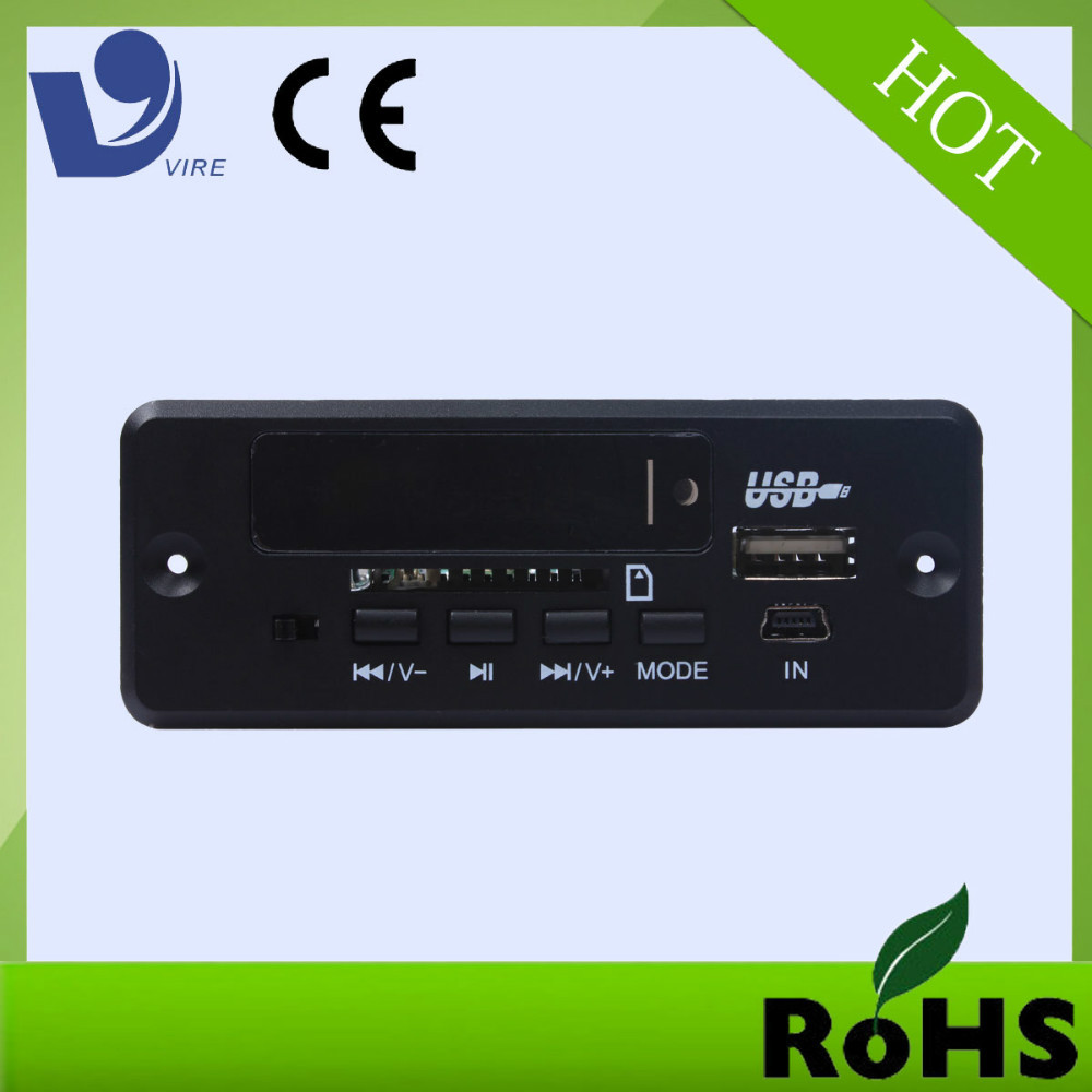 high quality sd card mini fm radio usb mp3 kit