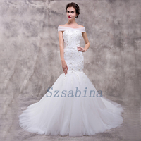 Wholesale 2017 alibaba wedding dress mermaid sweetheart neck lace up with long train