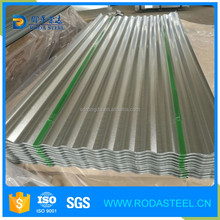 galvanized/gi/zinc coated corrugated metal roofing sheet with ral color caoted