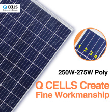 q-celles solar panel 250w 255w 260w 265w 270w 275w well-know solar panel brands with low price