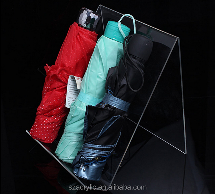 Acrylic umbrella display umbrella holder stand/rack