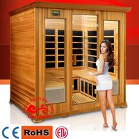 Toumaline Home Sauna,Wooden Far Infrared Sauna Room with Carbon Nano Heater for two Person Gw-205