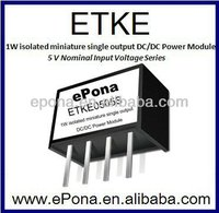 1W isolated miniature single output DC DC power Module ETKE