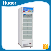 Commercial Beverage Display Cooler Swing Door Upright Beverage Cooler with Ventilation System