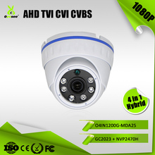 1080P 2MP Hybrid 4 in 1 AHD TVI CVI CVBS low light mini camera with custom camera lens made in Guangzhou taiwan