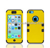 3 in 1 combo case for iPhone 5C sublimation / hard soft silicon case for iPhone 5C front back case / for iPhone 5 robot case