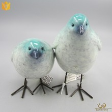 Hot Sale Artificial Birds for Crafts Small Polyresin Statue Love Bird Figurines Ornaments Miniature Decorative Bird