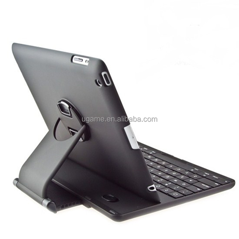 ABS Plastic Rotating Stand Case Cover Bluetooth Keyboard For <strong>iPad</strong> 2 3 4