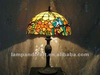 yellow colorful vintage indoor motel guest table lamp