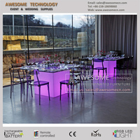 remote controlled 16 colors changing event and wedding dining table